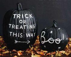 halloween decorations, halloween parties, paint ideas, chalkboardpaint, halloween pumpkins, chalkboard paint, painted pumpkins, halloween ideas, treat