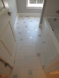 Bathroom floor with mosaic - For the Home