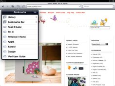 "A tutorial to add the ""Pin It"" bookmark on your ipad!"