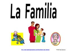 Spanish Family Flashcards and PowerPoint by Sue Summers - 71 slides with family and pets
