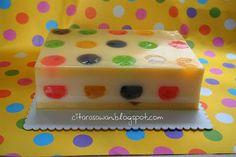 Recipes today - Puding Polkadot Fruit Jelly Jelly Desserts, Jelly Recipes, Pudding Desserts, Fun Desserts, Agar Agar Jelly, Resep Cake, Asian Cake, Jelly Cake, Recipe Today