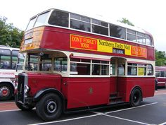 Dating from former West Hartlepool Corporation Transport Leyland 36 is pictured at the NEBPT Rally at the Howlands Park & Ride site, in Durham, on June London Transport, Public Transport, Routemaster, Double Decker Bus, Bus Coach, Busses, Transportation, Coaching, Vehicle