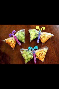 Leslie's Butterfly snacks
