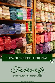 Buy dirndl fabrics online - 15 great online shops - traditional bible - Would you like to sew a dirndl yourself? Here you will find great online shops that offer high-qual - Bra Storage, Diy Nightstand, German Fashion, Decoration Originale, Online Shops, Built In Wardrobe, Store Displays, Jewelry Case, Fabric Shop