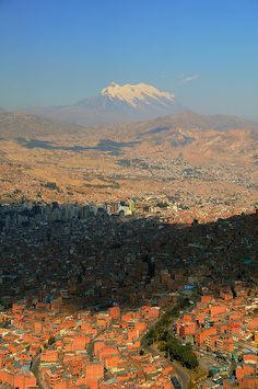 View over La Paz and Mt Illimani from El Alto, Bolivia | Flickr - Photo Sharing!❤️