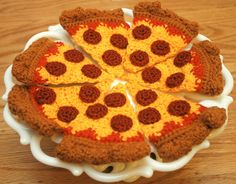 Pepperoni Pizza Brooch and Hair Clip Combo. $17.00, via Etsy.