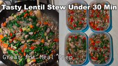 Try this high protein high fiber lentil stew recipe in under 30 min and it is great dish efficient meal prep idea! For blog for this recipe, http://getfitwithmindyeverywhere.tumblr.com/post/139976635772/tasty-lentil-stew-great-for-mealprep