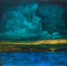 New Frontiers by Joanne Schoener Scott  The sky and water are so predominant in this painting and are great examples of value.