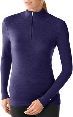 SmartWool Midweight Long-Sleeve Zip-T Top - Wool - Women's - Free Shipping at REI.com #winterwishlist
