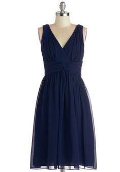 Glorious Guest Dress - Chiffon, Woven, Long, Wedding, Bridesmaid, Blue, Solid, Ruching, Cocktail, A-line, Sleeveless, Better, V Neck, Prom, ...