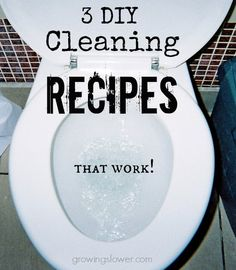 3 DIY Homemade Cleaning Recipes that work! All purpose cleaner, glass cleaner, and tub and tile scrub. Homemade Cleaning Products, Green Cleaning Recipes, House Cleaning Tips, Clean Recipes, Cleaning Hacks, Cleaning Solutions, Natural Cleaning Products, Cleaners Homemade, Diy Cleaners