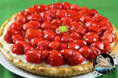 Tarte aux fraises http://www.aprendresansfaim.com/2014/07/tarte-aux-fraises.html