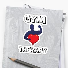'Gym Therapy & Graphic Design With Big Heart' Sticker by Gym Crush, Transparent Stickers, Glossier Stickers, Finding Yourself, Great Gifts, Therapy, My Arts, Graphic Design, Artists