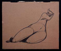 Maya | 40x33cm, markers on cardboard