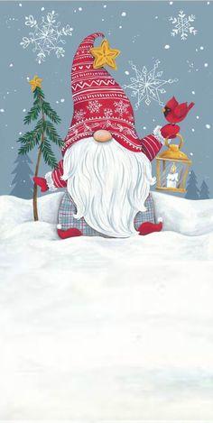 Christmas Gnome, Christmas Art, Winter Christmas, Vintage Christmas, Christmas Decorations, Christmas Ornaments, Illustration Noel, Christmas Illustration, Christmas Drawing