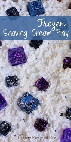 For all the FROZEN fans - Frozen inspired sensory play with shaving cream and ice