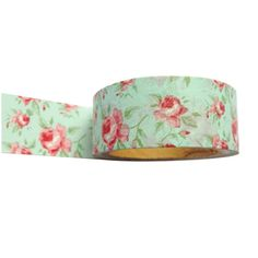 English Tea Blue Floral Flowers Washi Tape - 20mm Wide