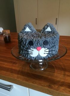 cat cake for cats birthday parties / cat birthday cake for cats ; cat birthday cake for cats party ideas ; cat cake for cats birthday parties Cat Cupcakes, Cupcake Cakes, Cup Cakes, Birthday Cake For Cat, Birthday Ideas, Birthday Cartoon, 7th Birthday, Birthday Parties, Kitten Cake