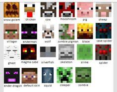 Minecraft mob faces