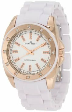 Or this one? Anne Klein Women's 109178RGWT Swarovski Crystal Accented Rosegold-Tone White Bracelet Watch Anne Klein, http://www.amazon.com/dp/B003YCVXVQ/ref=cm_sw_r_pi_dp_2rkeqb0BSF8Y2