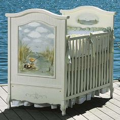 Hand Painted Stephen Fisher Crib from PoshTots