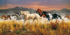 Puzzle CLEMENTONI 13200 dílků - Divocí koně - Hřmící stádo