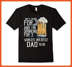 Mens She's Eating For 2 & I'm Drinking For 3 World's Greatest Dad 3XL Black - Relatives and family shirts (*Partner-Link)