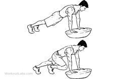 Bosu Ball Mountain Climbers