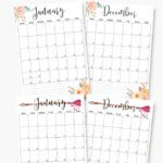 2017 – printable A5 planner calendars