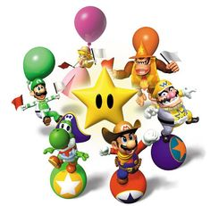 Mario Party 2 (Nintendo Artwork including characters and group shots of the cast New Video Games, Video Game Art, Super Mario Brothers, Super Mario Bros, Yoshi, Mario Party Games, Mario Und Luigi, Nintendo 64 Games, Super Mario World