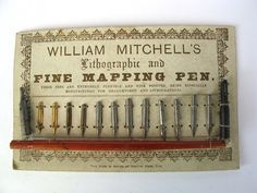 Calligraphy I want to learn!  William Mitchell Mapping Pen Nibs with Nib Holder by by Inklinks, £20.00