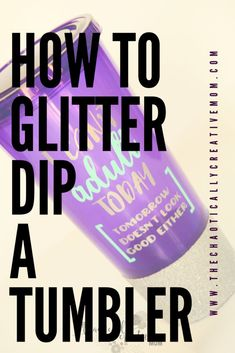 Glitter dipped tumblers are all the rage! Glitter Dipping a Tumbler Vinyl Crafts, Vinyl Projects, Craft Projects, Project Ideas, Art Crafts, Wood Crafts, Epoxy, Shilouette Cameo, Diy Tumblers