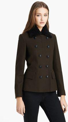 Warneton Shearling Collar Coat - Lyst