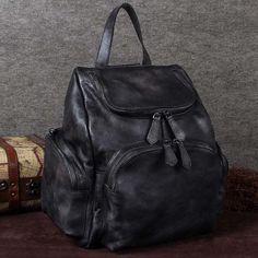c740ee907511 ROCKCOW Top Grain Leather Backpacks Men s School Travel Shoulder Bag H –  ROCKCOWLEATHERSTUDIO Leather Backpack For