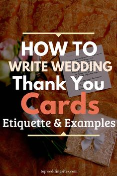 [Guide] How To Write Wedding Thank You Cards: Etiquette, & Examples Wondering what exactly should you write in your wedding thank you cards? Here are all the etiquettes you should know about, along with examples you can get inspiration from! Wedding Thanks, Wedding Thank You, Wedding Cards, Wedding Favors, Wedding Sites, Wedding Bells, Thank You Card Wording, Writing Thank You Cards, Make Your Own Wedding Invitations