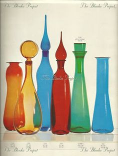 The Blenko Project is dedicated to recording the past, analyzing the present and being an advocate for the growth and preservation of BLENKO GLASS. Blenko Glass, Vintage Glassware, Preserves, Bliss, Condo, The Past, Projects, Ideas, Log Projects