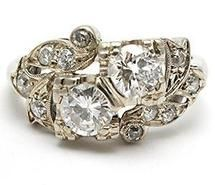Empress-like ring! The more I look at the ring, the more I want it to be mine! http://www.westonjewelry.com/vintage-retro-twin-diamond-anniversary-ring-solid-14k-white-gold.html