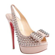 Our Christian Louboutin outlet provides you disocunt Christian Louboutin Clou Noeud 150 Studded Slingbacks Pink. It is necessary to provide fast shipping of every purchase.