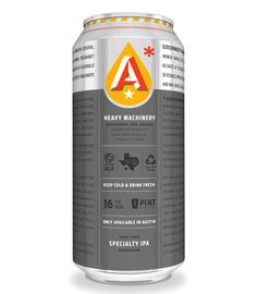 Austin Beerworks Heavy Machinery IPA Cans