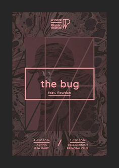 "Winter Plisskën Festival 2014 ""The Bug"" poster by Sébastien Nikolaou www.sebdesign.eu"