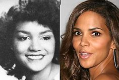 Halle Berry: rhinoplasty - Before and After: Cosmetic surgery Celebrities Before And After, Celebrities Then And Now, Famous Celebrities, Celebs, Halle Berry, Jennifer Aniston, Scarlett Johansson, Bad Plastic Surgeries, Kim Kardashian