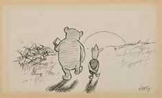e.h. shepard drawings | ... pencil drawing of Pooh and Piglet by E.H. Shepard