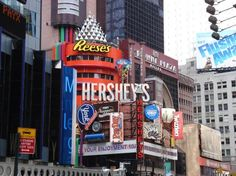 Hershey's Times Square, New York - just to get my stash of Hersheys Candy Cane ♥