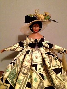 African American Money Doll Gift Doll Black by Divineangelshop, $29.99