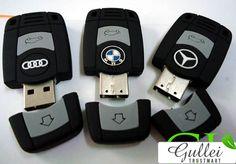 Audi Mercedes Lexus BMW Volvo Keychain Flash Drive
