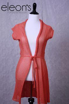 Orange BCBG long sweater - medium Eleon's Portraits for Women - Roseville, CA