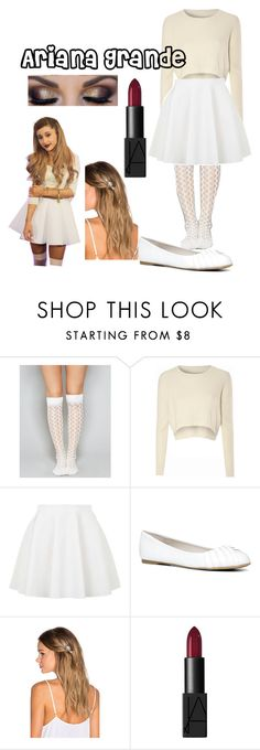 """Halloween Costume 30 ( Ariana Grande)"" by selena-gomezlover ❤ liked on Polyvore featuring Wet Seal, Glamorous, Topshop, ALDO, Lelet NY, NARS Cosmetics, women's clothing, women's fashion, women and female"