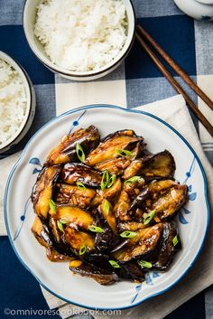 Chinese Eggplant with Garlic Sauce (Vegan)