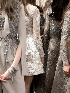 Elie Saab beaded dressesin grey shades | Spring/Summer 2016 | Lebanese