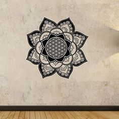 Flower of Life Mandala Wall Decal Vinyl Art Home Decor Good Vibes Namaste Yoga State Of The Wall